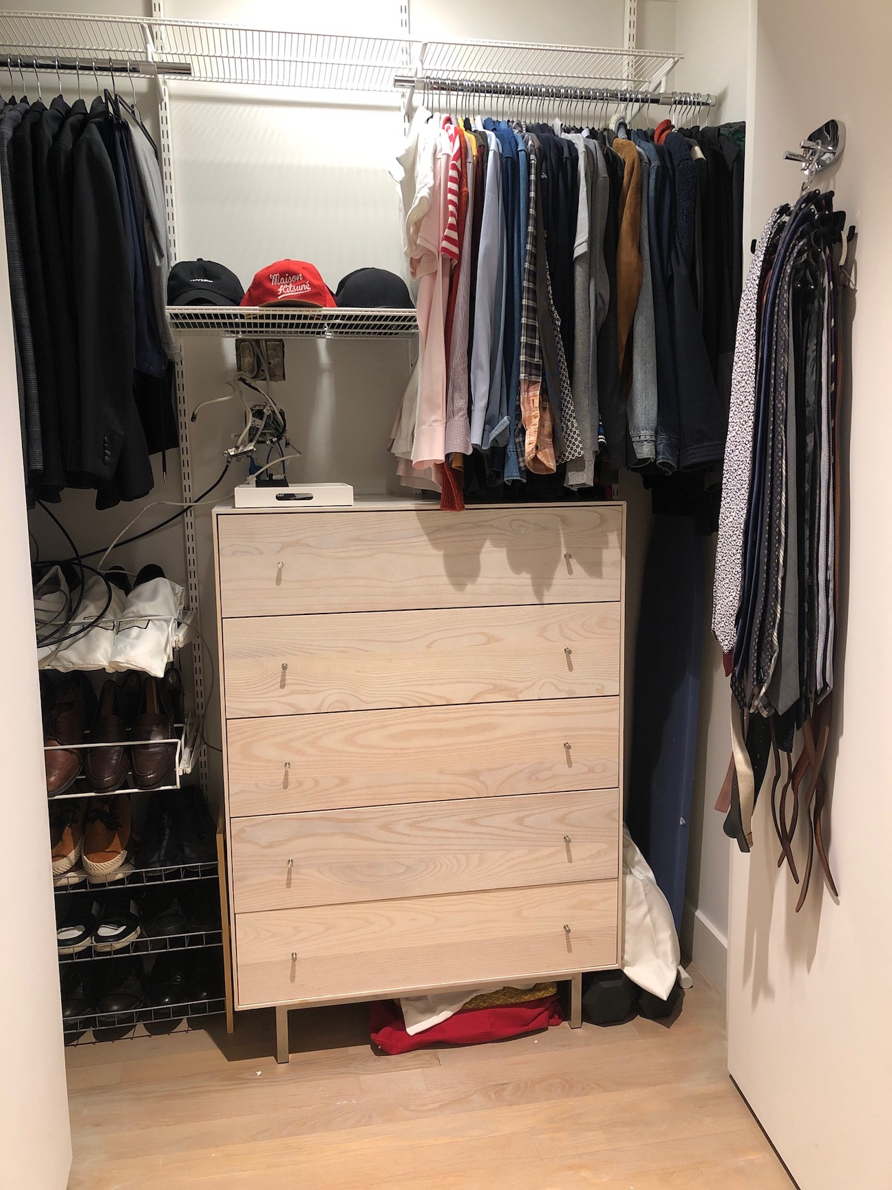 His New Closet